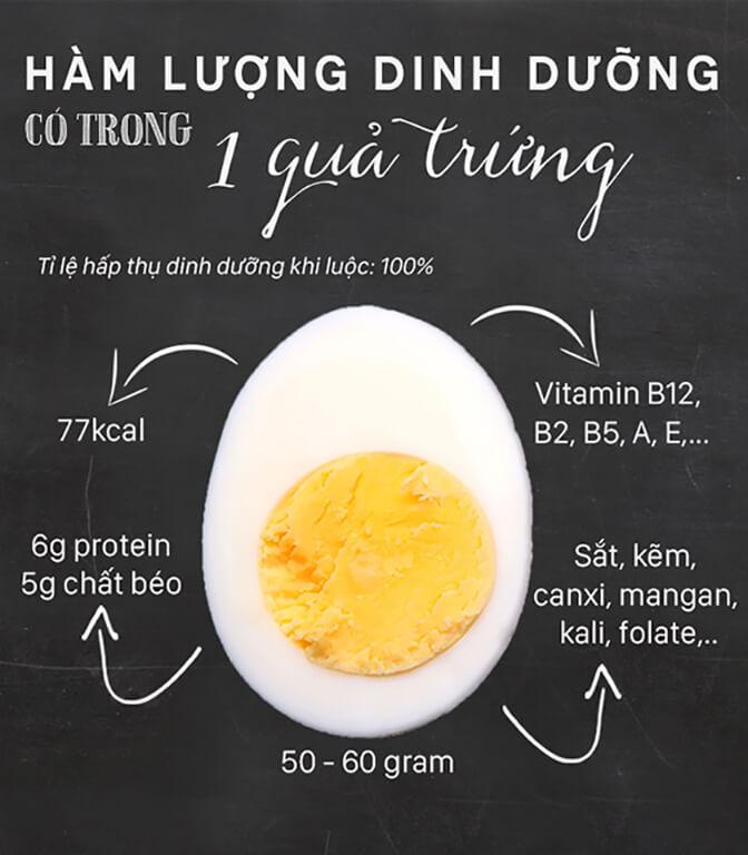1 quả trứng chứa bao nhiêu protein