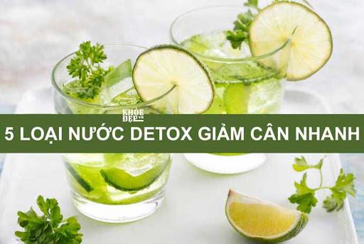 nước detox giảm cân nhanh