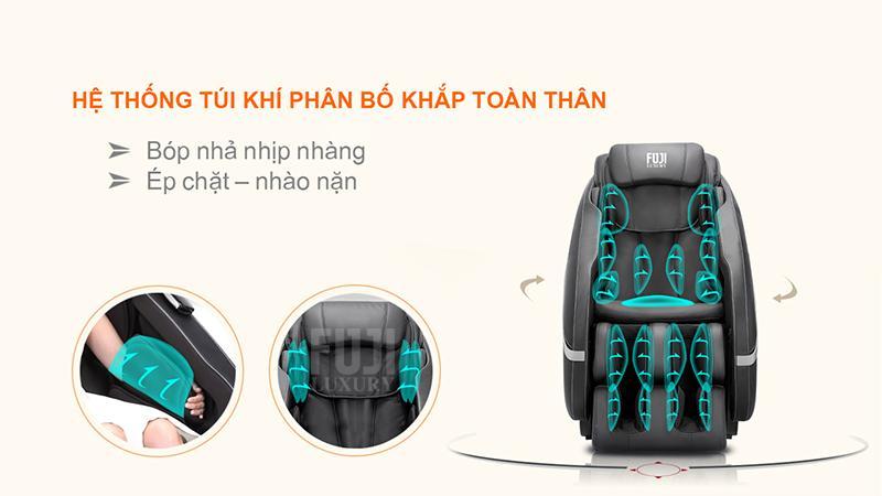 Túi khí ghế massage là gì