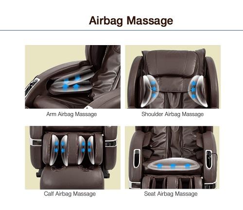 Túi khí đơn và túi khí kép trên ghế massage khác nhau thế nào
