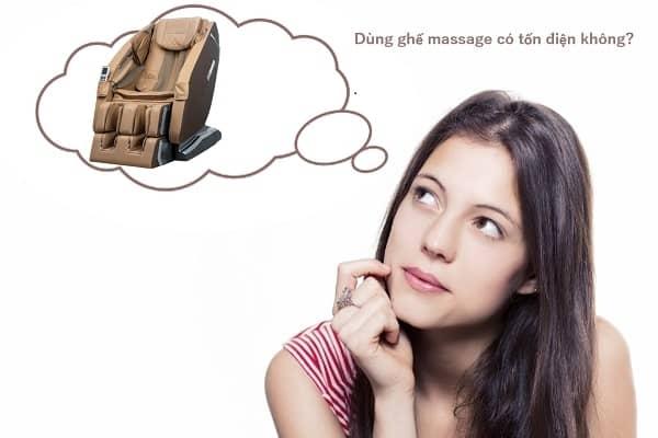 Ghế massage dùng có tốn nhiều điện không