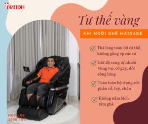 Tư thế vàng khi ngồi ghế massage - Toshiko