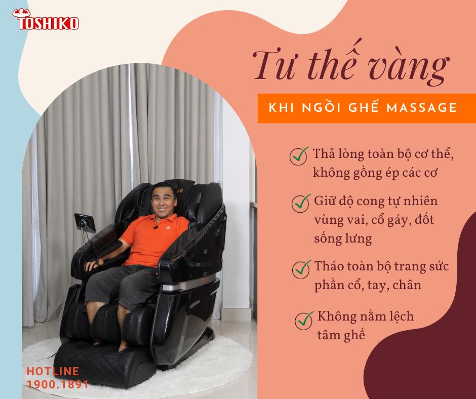 Lợi ích của ghế massage đối với xương khớp