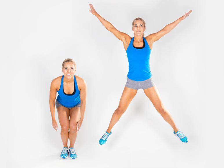 Jumping jack giảm mỡ bụng cho nữ