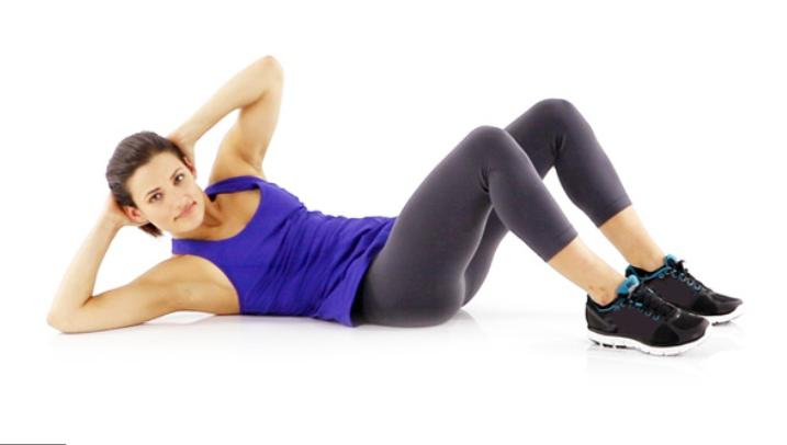 Twist crunch giảm mỡ bụng cho nữ