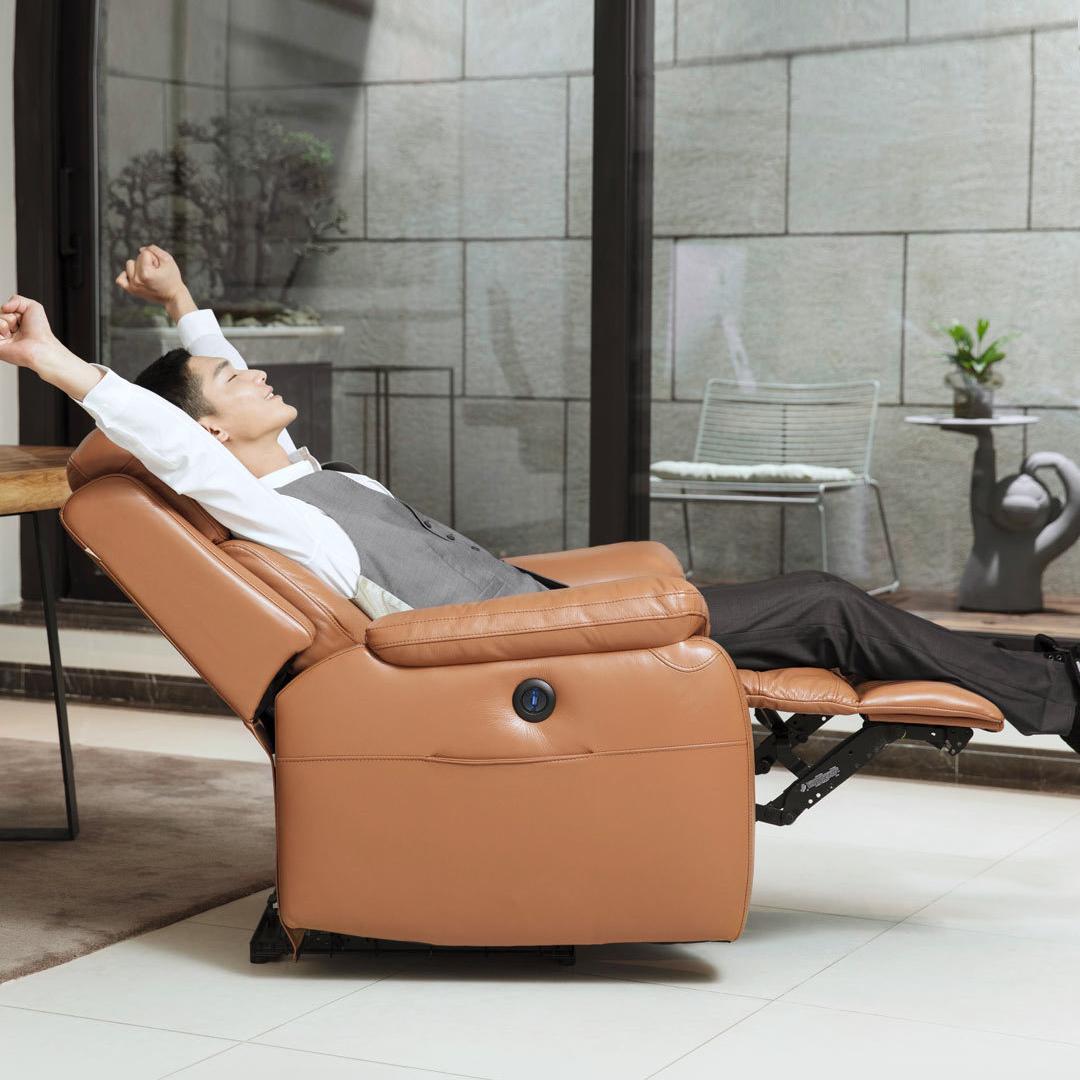 Ghế văn phòng có massage lưng kèm để chân cao cấp - ghế da giám đốc có matxa thư giãn