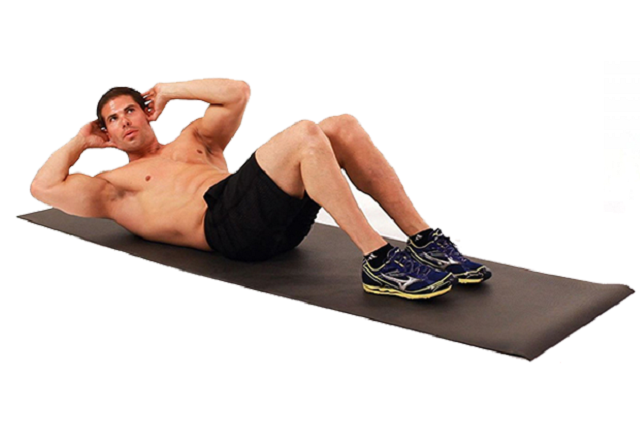 Gập bụng cơ bản giảm mỡ bụng