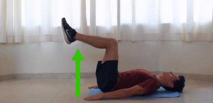 bài tập nâng chân tăng chiều cao