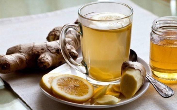 Nước chanh gừng mật ong giảm mỡ bụng