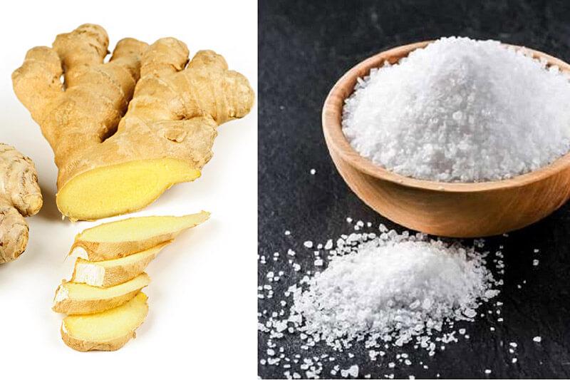 Cách làm muối gừng quấn bụng sau sinh-1