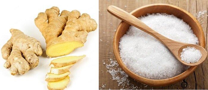 Cách làm muối gừng quấn bụng sau sinh-3